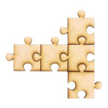Wooden Craft Blank Jigsaw Puzzle Pieces - various sizes